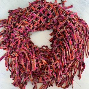 Steve Madden Open Knit Tassel Infinity Scarf